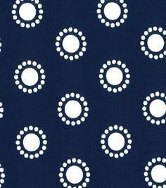 Quilter's Showcase™ Cotton Fabric-Circles Navy/White