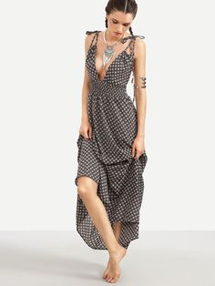 Black maxi dress styles for less