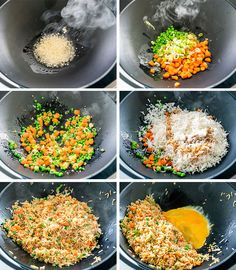 Super quick and Easy Fried Rice in less than 10 minutes. This fried rice is very… Super quick and Easy Fried Rice in less than 10 minutes. This fried rice is very versatile, made with egg, any other protein can be added such as shrimp or chicken. Easy Rice Recipes, Asian Recipes, Healthy Recipes, Fried Rice Recipes, Stir Fried Rice Recipe, Leftover Rice Recipes, Jasmine Rice Recipes, White Rice Recipes, Pf Changs Fried Rice Recipe