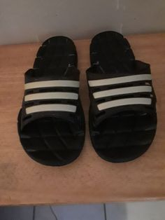 4221074bcf204 ADIDAS DURAMO SANDALS SLIDES SLIPPERS MENS SIZE 10 BLACK WHITE  fashion   clothing  shoes