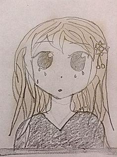 Sad Anime girl.