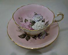 Vintage PARAGON Tea Cup Set / Pink Hydrangea Teacup and Saucer by Terese Vernita