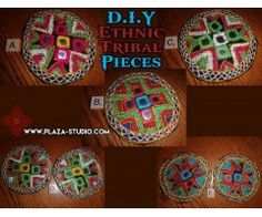 DIY Tribal Costume Ethnic Embroidery Disc with Mirrors