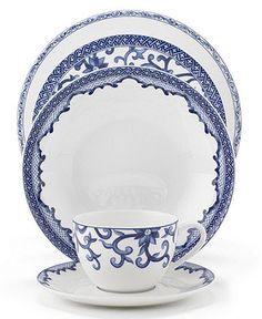 Lauren Ralph Lauren Dinnerware, Mandarin Blue Collection - Fine China - Dining & Entertaining - Macy's