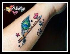 Mizan - Welcome my homepage Mom Dad Tattoo Designs, Om Tattoo Design, Feather Tattoo Design, Tattoo Designs Wrist, Music Tattoo Designs, Tattoo Designs For Women, Feather Tattoo Wrist, Peacock Feather Tattoo, Feather Tattoos