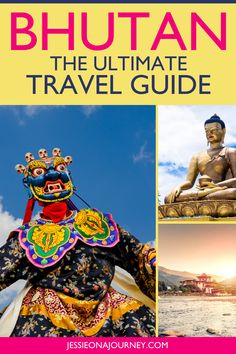 """This ultimate Bhutan travel guide shares the best places to visit + tips for traveling around the """"World's Happiest Country."""" There are so many unique things to do in Bhutan, so definitely add this country to your bucket list! // #Bhutan #Travel #Trip #Vacation #BhutanTravel Travel Trip, Asia Travel, Travel Destinations, Travel Ideas, Travel Inspiration, Best Travel Guides, Responsible Travel, Bhutan, Amazing Adventures"""