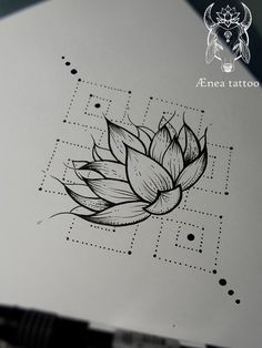 Image result for lotus flower dotwork tattoo sketches