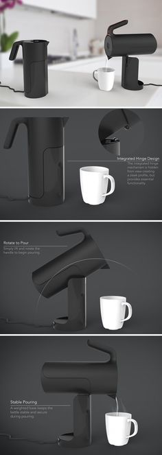 Nothing should prevent one from enjoying one of life's simple pleasures: a hot cup of tea! Designed with this in mind, TILT. is a kettle that makes it easy for anyone to fill, heat, and pour despite disability, weakness, mobile impairment or age.