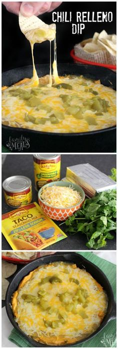 Dip Chili Relleno Dip Recipe - Easy dip recipe to please a crowd! Love this one for Cinco de Mayo!Chili Relleno Dip Recipe - Easy dip recipe to please a crowd! Love this one for Cinco de Mayo! Yummy Appetizers, Appetizers For Party, Appetizer Recipes, Mexican Appetizers, Avacado Appetizers, Prociutto Appetizers, Recipes Dinner, Elegant Appetizers, Halloween Appetizers