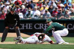 Oakland Athletics Mark Canha, Boston Red Sox Daniel Nava