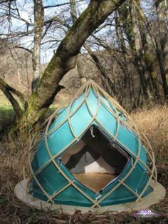 like the idea of yurt like lattice walls. lighter than solid walls but more secure than just canvas tent walls.