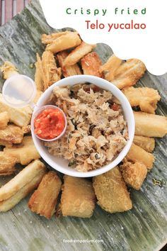 This Bacalao snack is typical Surinam food. Bacalao fish is served with keto yuca fries.   #Bacalaosnack #Surinamfood #ketoyucafries  food-emporium.com