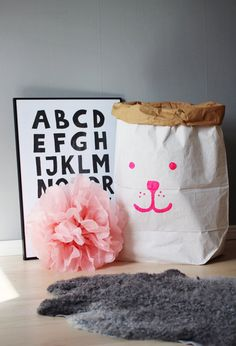 cute bear paper storage bag...