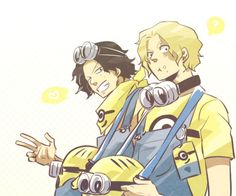 Ace & Sabo as minions  I looove minions and I looove Ace & Sabo so this is the perfect combination