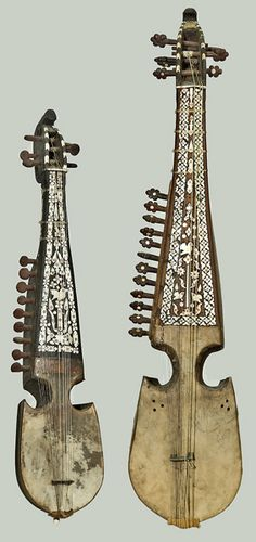 Afghan Rabab. Short-Necked Lute (Robab, Rabab), Afghanistan, 19th Century. The larger robab is generally used in Afghani art music. The smaller instrument is typically used for the regional music of the Pashtun people. The robab migrated south into India in the mid-19th century, where it eventually developed into the modern sarod, one of the primary instruments of Hindustani music. Photo ©National Music Museum, The University of South Dakota