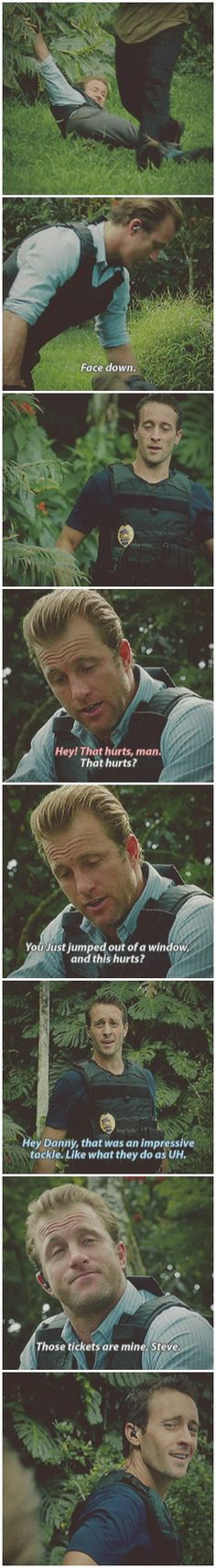 i will never tire of proud!steve moments the look on his faaaace and then he's like 'oh shit must make snarky comment or my feelings will show...more' # MCDANNO # 2.16