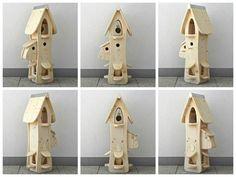 Nistkästen & Vogelhäuser - XXL Knödelvilla Vogelvilla Vogelhaus Nistkasten - ein Designerstück von budae bei DaWanda