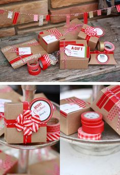 Create gift tags & add to homemade packaging. - - - - - - - - - - - - - - - - - - washi tape gift wrapping ideas, gift wrapping ideas, wrapping paper, wrapping, gift wrapping idea, paper, wrapping paper, wrapping present, craft, diy, inspiration
