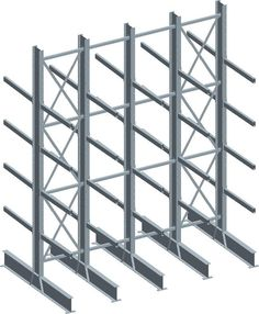 CAD design of cantilever racking