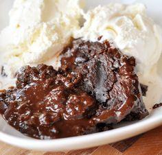 Mel's Kitchen Cafe   Slow Cooker Hot Fudge Peanut Butter Pudding Cake