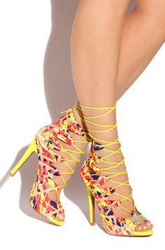 Sweet Vicious - Neon Yellow - Lola Shoetique