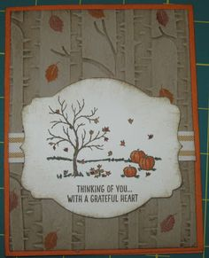 Stampin' on the Prairie: Woodland Happy Scenes, Stampin' Up!, Woodland embossing folder, Happy Scenes, Among the Branches