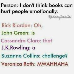 Rick Riordan has caused me some serious emotional trauma that I'm still not over so I'm probably gonna need some therapy