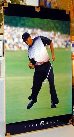 Tiger Woods Intensity Nike Original Golf Poster. Excellent and Rare!  Reduced Price 82bfdde07cf2