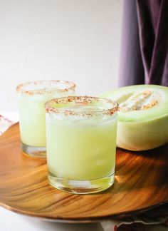 Blend honeydew melon, then add tequila and lime! http://cookieandkate.com