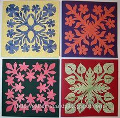 Hawaiian Quilt Block Cards #Templates #tutorial