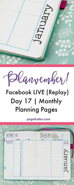 My monthly planning page and how I use weekly journal pages. #2018 #plannerjunkie