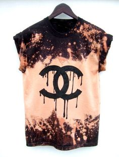 Reverse Dye T-Shirt Men Women Grunge Tops Hand by GrahamsBazaar