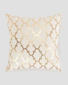 "Spencer Gold Metallic Lattice Print Pillow 20"" - Home   Stein Mart"