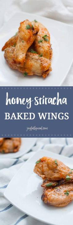 f you're looking for the perfect fall and football appetizer, these Honey Sriracha Baked Wings are your solution! They're light and crispy with a perfect blend of sweet and spicy. These can be made ahead of time and easily in bulk, making them perfect for Easy Appetizer Recipes, Healthy Appetizers, Dinner Recipes, Dinner Ideas, Delicious Appetizers, Holiday Appetizers, Wing Recipes, Top Recipes, Easy Recipes