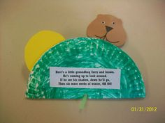 ground hog for preschool Daycare Themes, Daycare Crafts, Toddler Crafts, Preschool Activities, Winter Activities, Preschool Winter, Preschool Art, Reading Activities, Preschool Groundhog