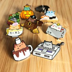 Robot Dance Battle: Cute characters, enamel pins, shirts, and more! Kawaii Accessories, Pokemon, Accesorios Casual, Acrylic Charms, Cool Pins, Pin And Patches, Metal Pins, Pin Badges, Cute Jewelry