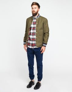 I like the whole look, even the personal grooming. The shirt is by Mark McNairy