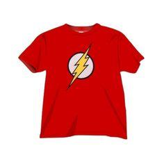 T-shirt Flash Logo di alta qualità con stampa digitale diretta Full Color. Cotene, Rosso disponibile nelle taglie: S, M, L , XL
