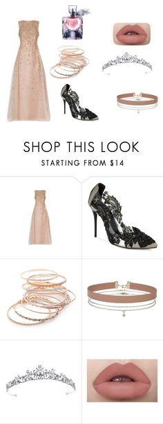 """""""How do you say kiss me"""" by marebear-737 ❤ liked on Polyvore featuring Oscar de la Renta, Red Camel, Miss Selfridge and Lancôme"""