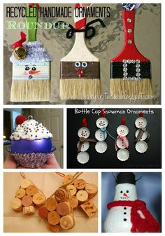 Roundup of Handmade Christmas Ornaments from Recycled Materials - Eclectic Momsense