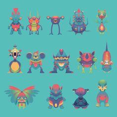 Cute Monster Pack 2 on Behance