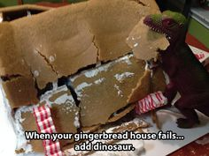 when your ginger bread house fails | I Love Funny Pics