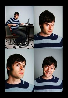 Bill Hader - such a nerd. It The Clown Movie, I Movie, Funny People, Funny Men, Bill Hader, John Mulaney, Saturday Night Live, Celebs, Celebrities