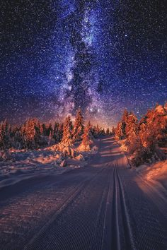 "lsleofskye: ""the first snow hit Oslo today Beautiful Sky, Beautiful Landscapes, Beautiful World, Beautiful Places, Beautiful Pictures, Beautiful Scenery, Landscape Photography, Nature Photography, Sky Full Of Stars"