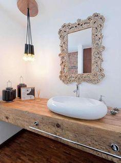 Top in legno mensola da bagno per lavabo 180x55x7 | Bath, House and ...