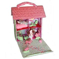 Fabric Doll House, Handmade Gifts for Kids