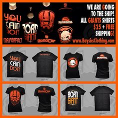 We're GoinG To The SHIP!!! All #SFGiants Gear on Sale Now $25 and FREE SHIP!!! www.BaysicsClothing.com #baysicsclothing #WorldSeries #borngiant #Baseball #October
