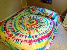 Full Size Custom Tie Dye Sheet Set. $52.00, via Etsy.   I wish I had sheets to tie dye...because one isn't enough :P