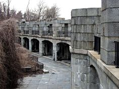 ... unfinished civil war era fort at fort totten park in queens new york