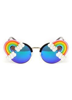 Gasoline Glamour Fantasia Neon Rainbow Coco Glasses | Attitude Clothing
